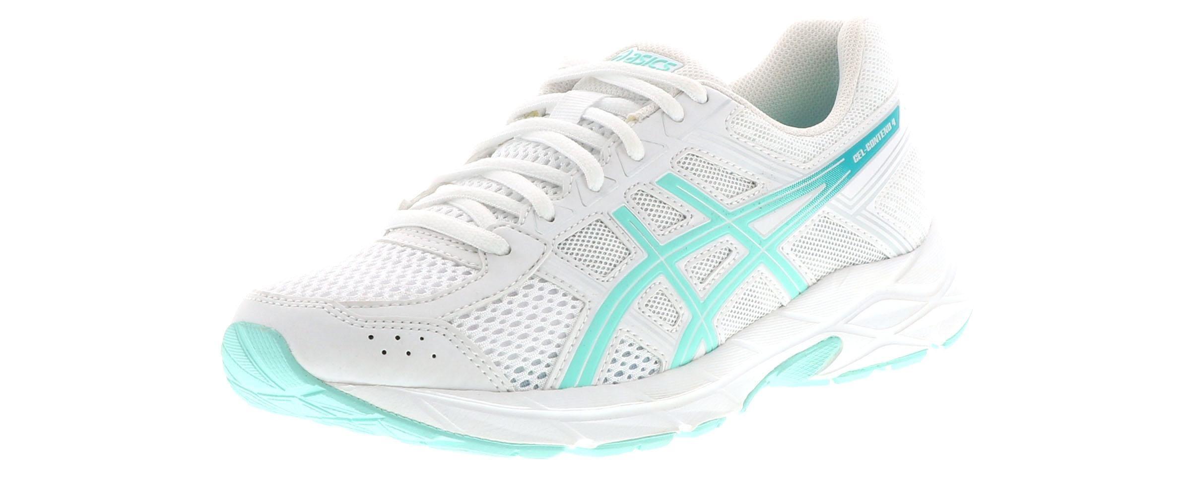 Women's Asics Gel Contend 4 White Shoe Sensation  Shoe Sensation