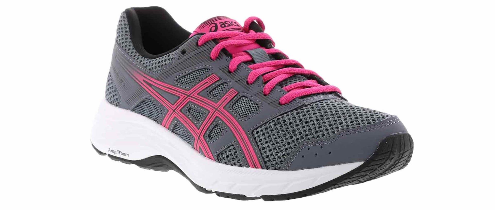 women's gel contend 5 grey pink