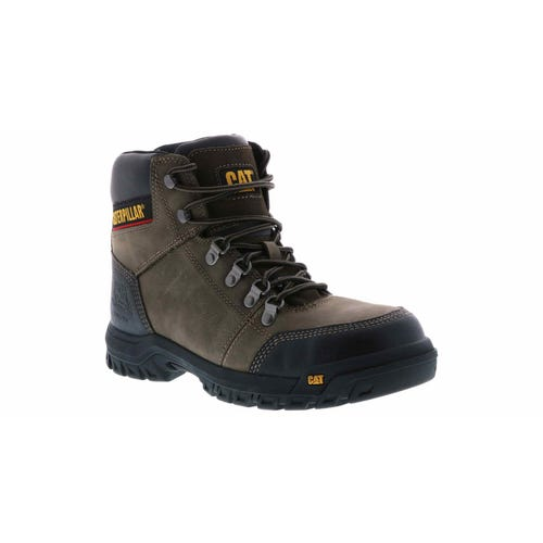 5b9cb256d70 Caterpillar Men's Outline Steel Toe Boot Wides Brown