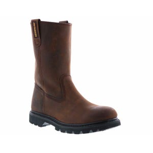 Caterpillar Men's Revolver Soft Toe Wellington Brown