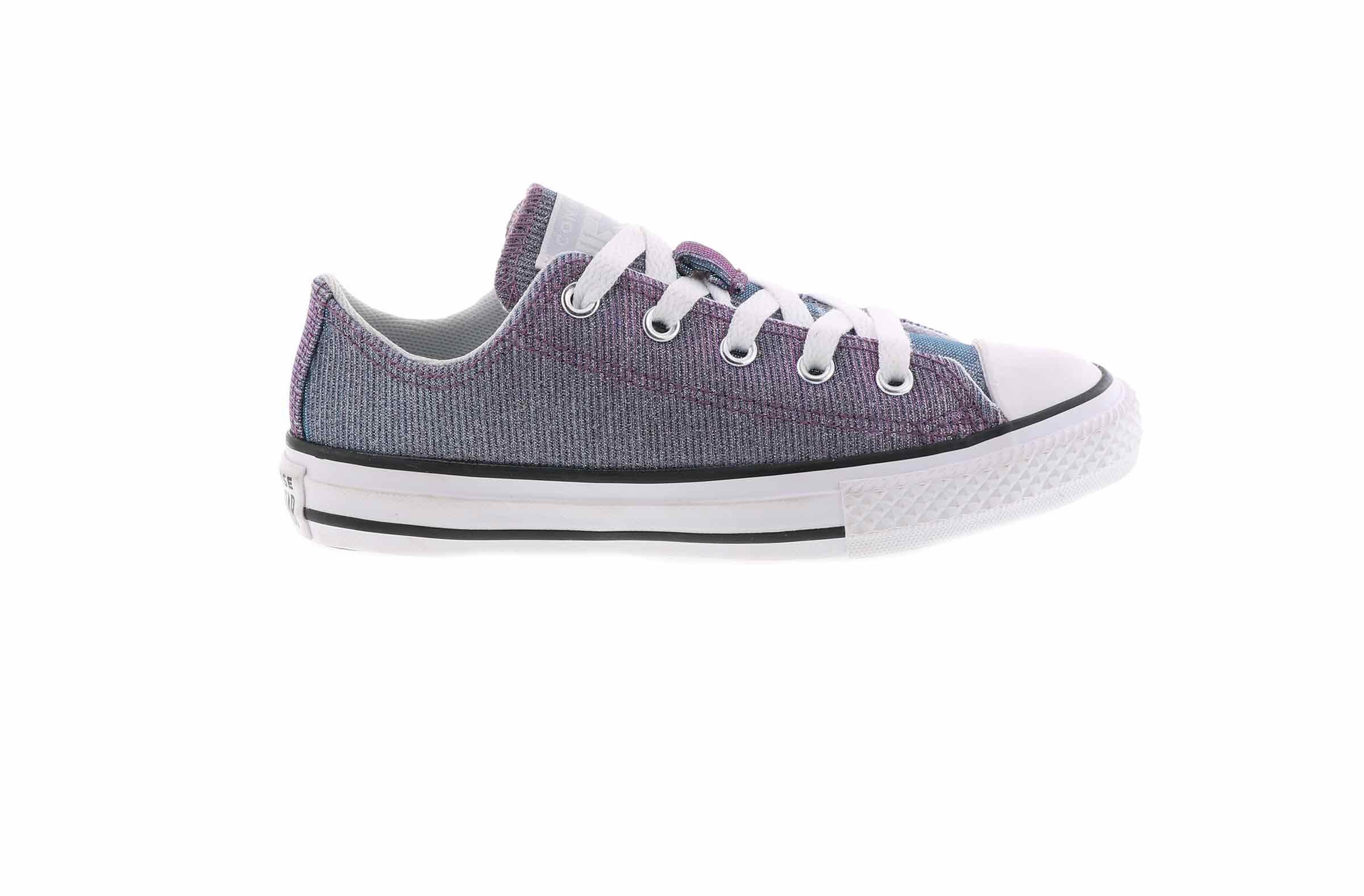 Women's Converse Chuck Taylor All Star Ox Metallic Shoes [KE3007LA] Silver