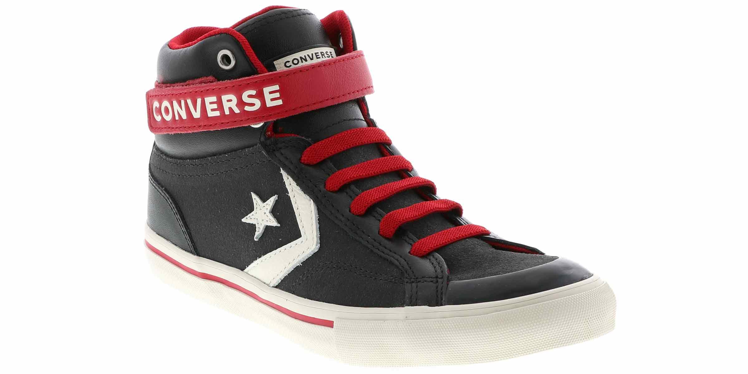Kid's Converse Pro Blaze Strap Hi (1 6) Charcoal | Shoe