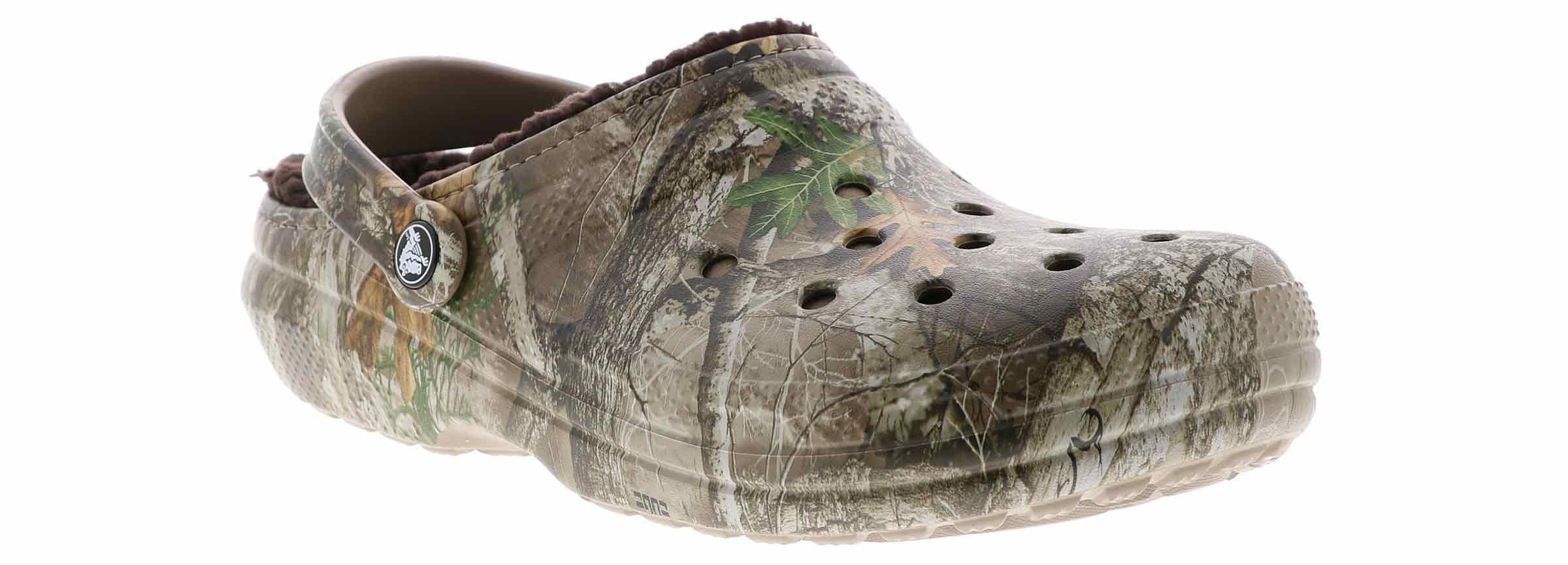 Choose SZ//color Crocs Men/'s /& Women/'s Classic Fuzz Lined Realtree