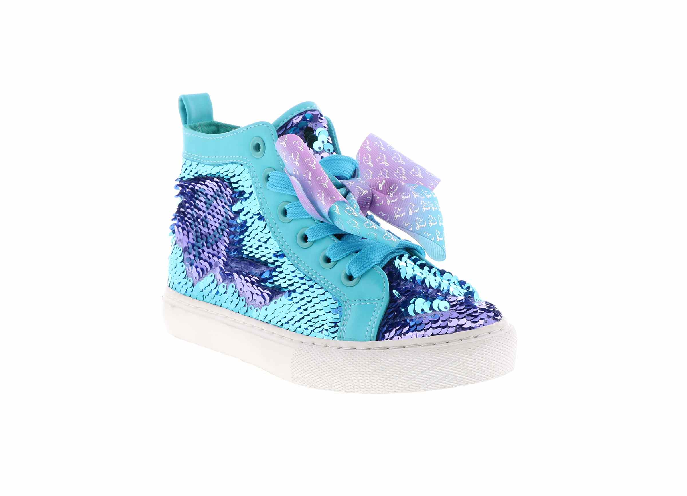 Kid S Jojo Siwa High Top Sneaker Blue Shoe Sensation