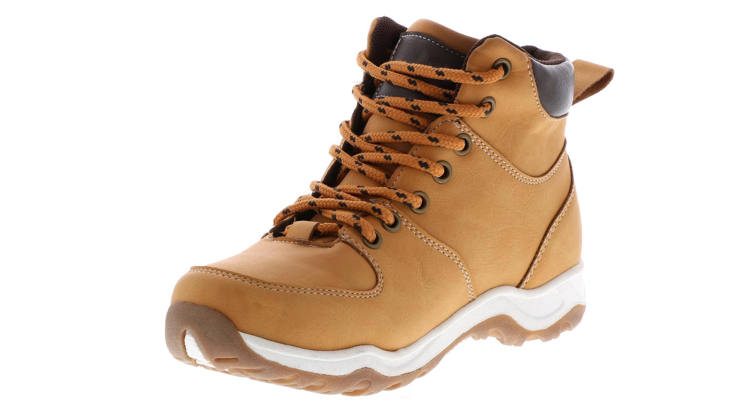 Joseph Allen JA06091 Boys Tan Casual Lace Up Hiking Style Comfort Boots