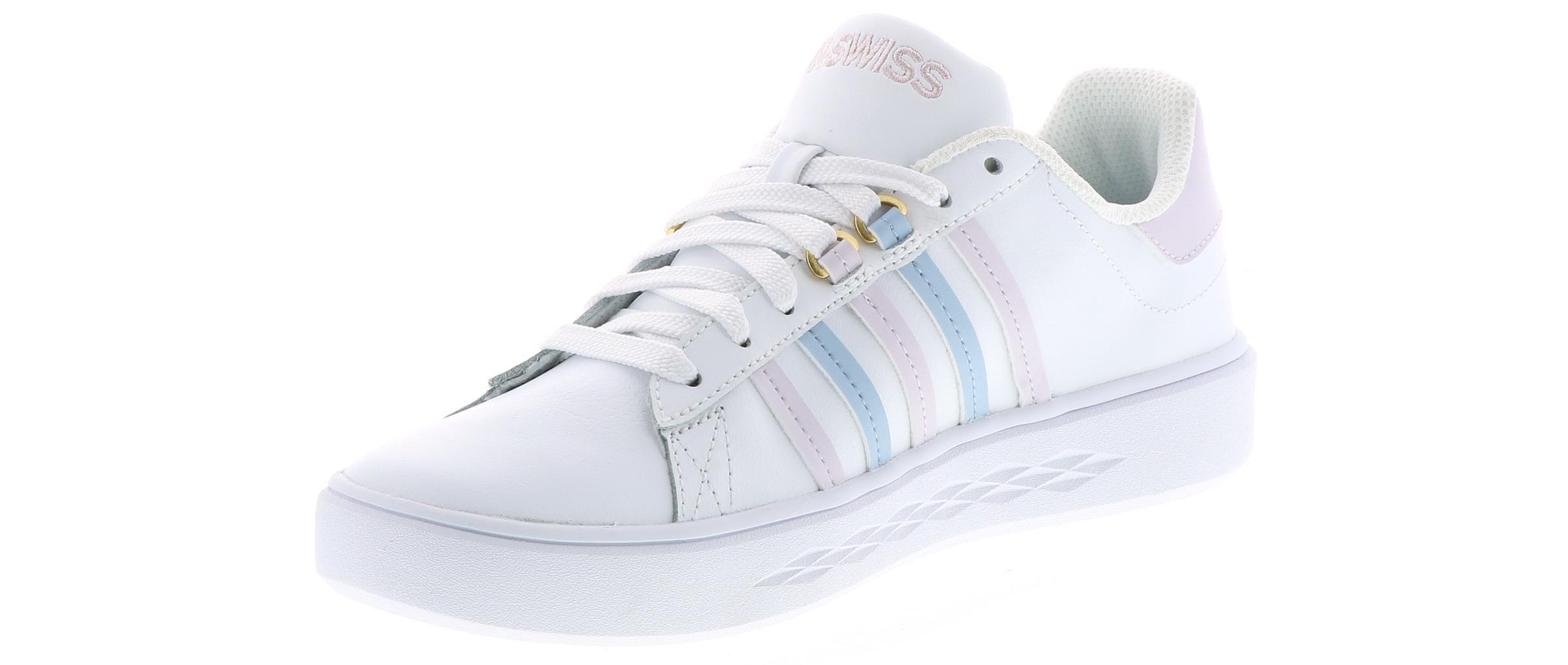 7ee18e3a30535 Women's K-Swiss Pershing Court Cmf White   Shoe Sensation