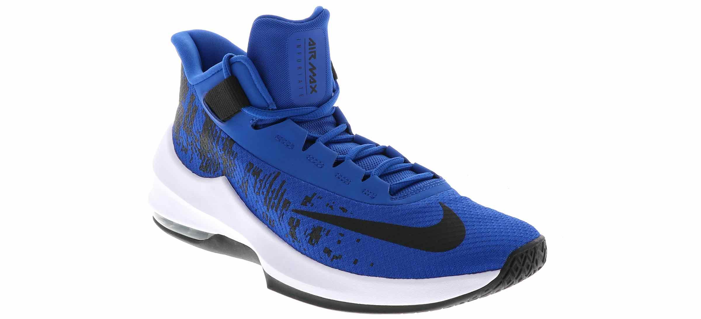 Men's Nike Air Max Infuriate 2 Mid Blue Skofølelse  Shoe Sensation