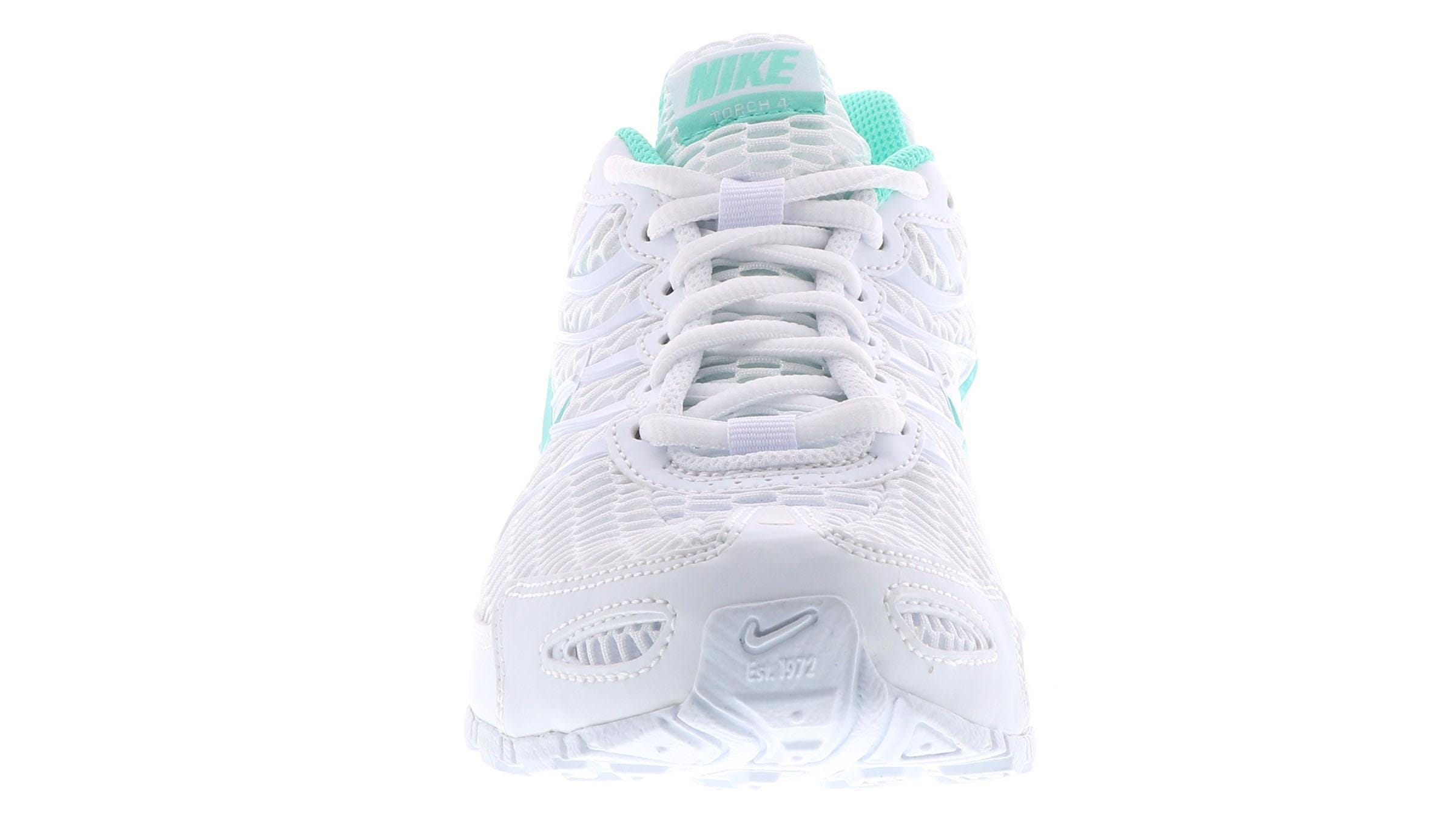 Womens Nike Air Max Torch 4 Running Shoes Sz 9 White Turquoise 343851 100