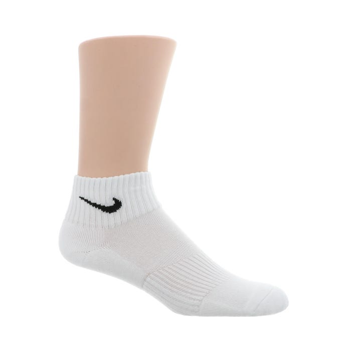 Coronel travesura Inconcebible  Men's Nike Performance Cushioned Quarter Socks White | Shoe Sensation