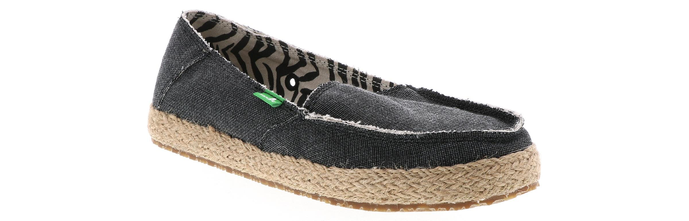 Sanuk Womens Sandals Fiona in Charcoal Charcoal