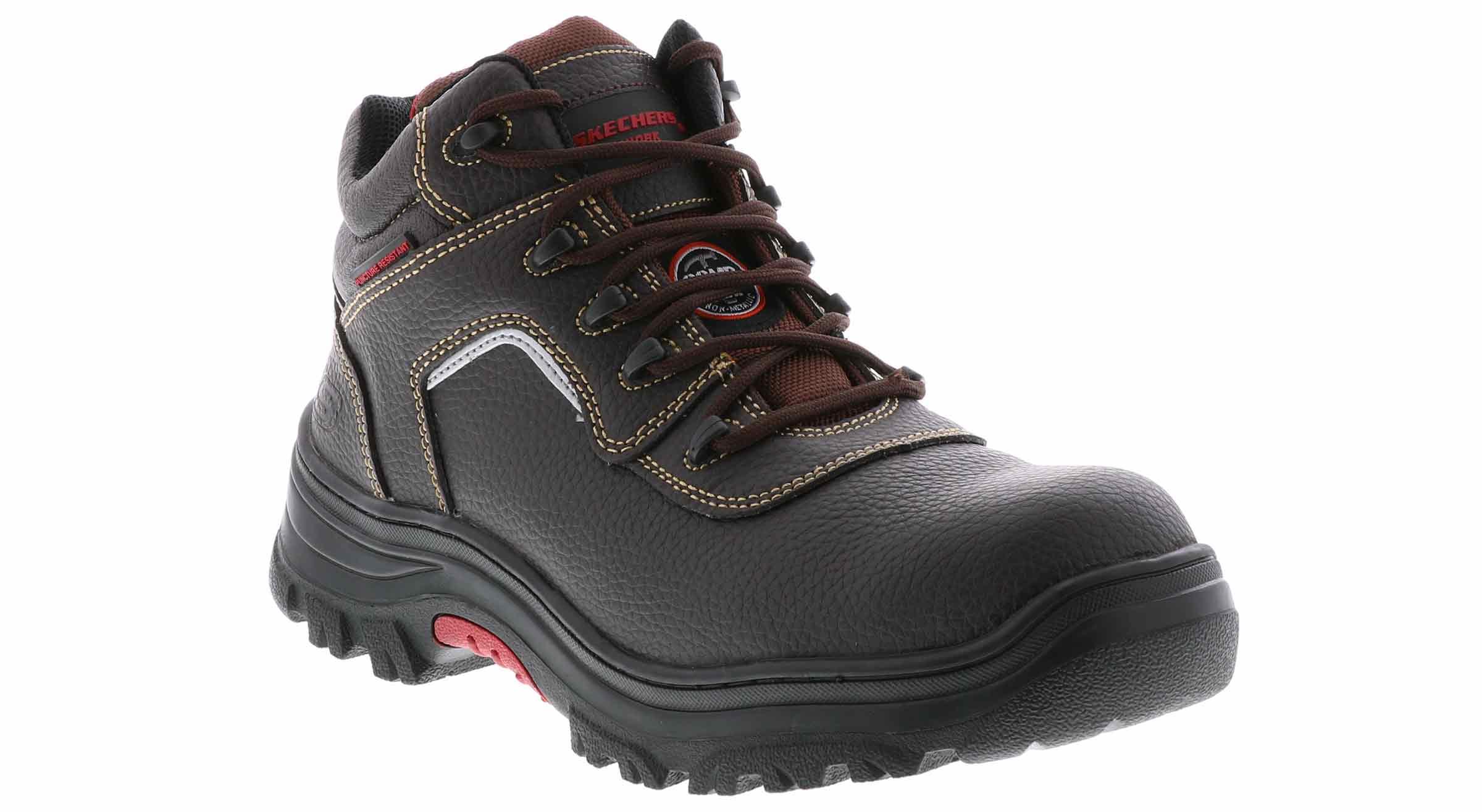 c65b5f35d13 Men's Skechers Burgin Sosder Comp Toe Dark brown | Shoe Sensation