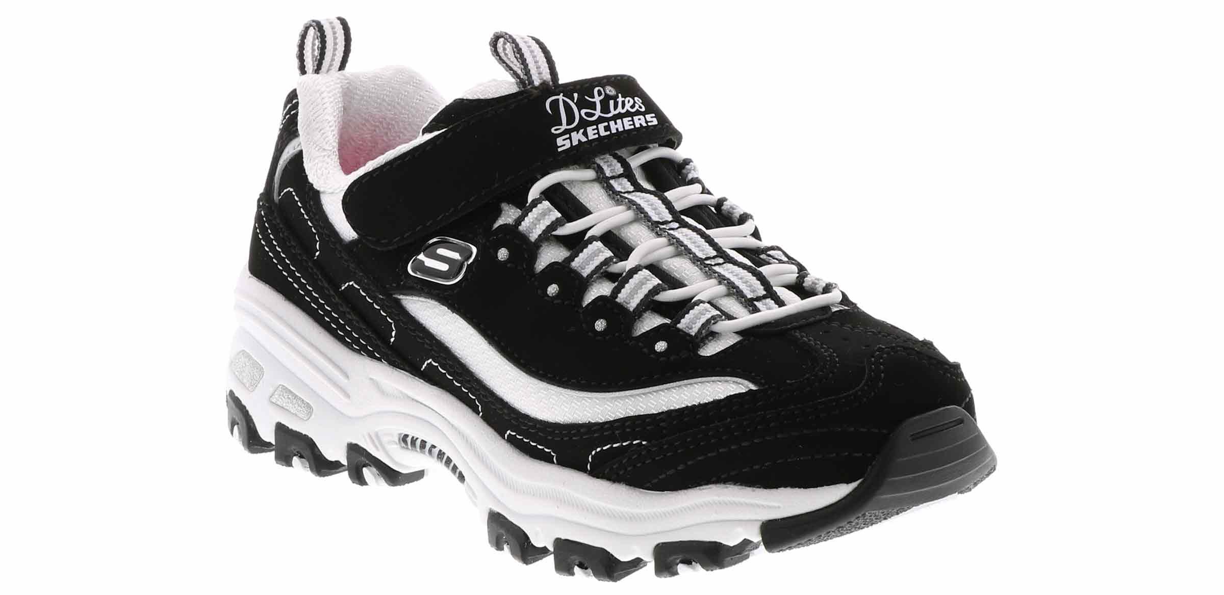 Kid's Skechers D'Lites Biggest Fan (4 6) Black   Shoe Sensation