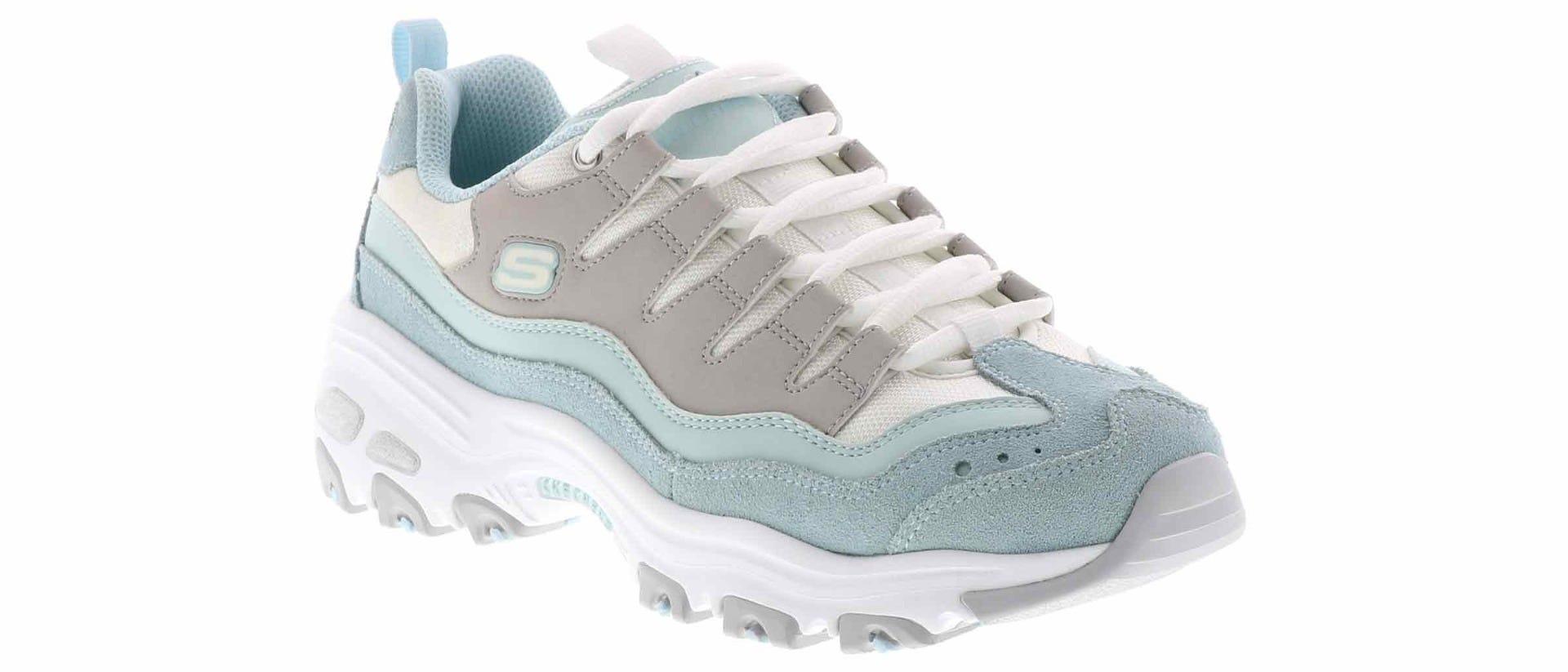 Skechers Dlites Sure Thing Womens Light bluee Grey Fashion