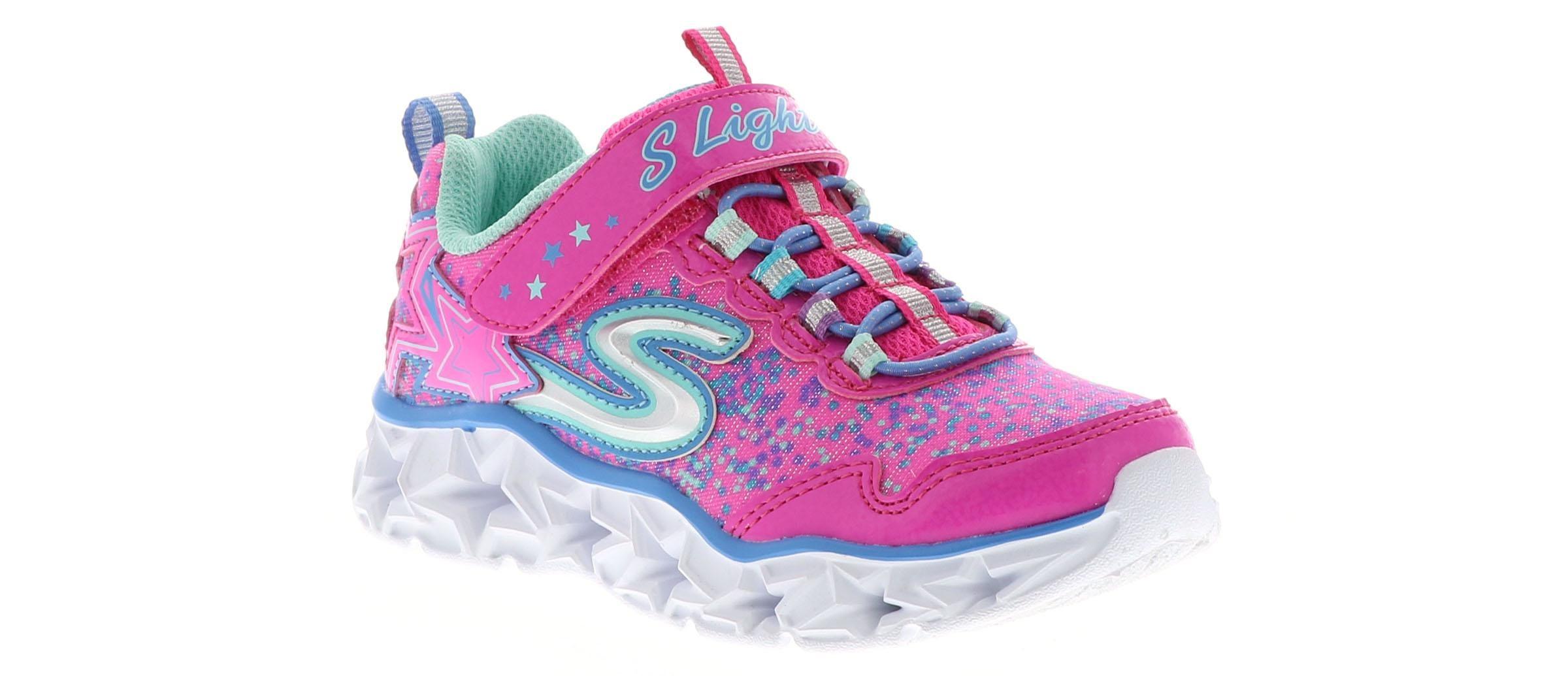 Skechers Girls HEART LIGHTS purplemulti light up sneakers