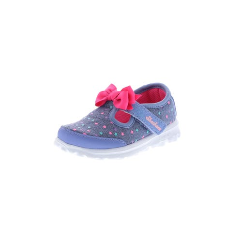 Skechers Kid's Go Walk Bitty Bow (5-10) Grey