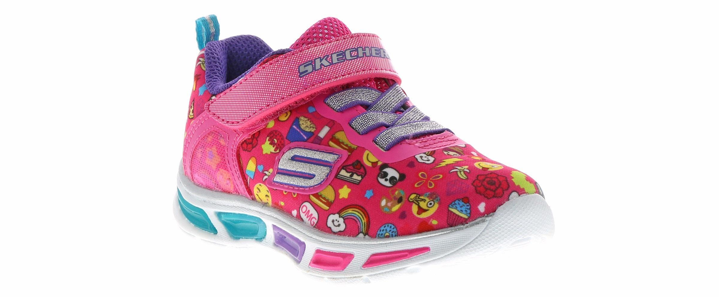 Kid's Skechers Lightbeams Emoji (5 10) Pink Skosensation  Shoe Sensation