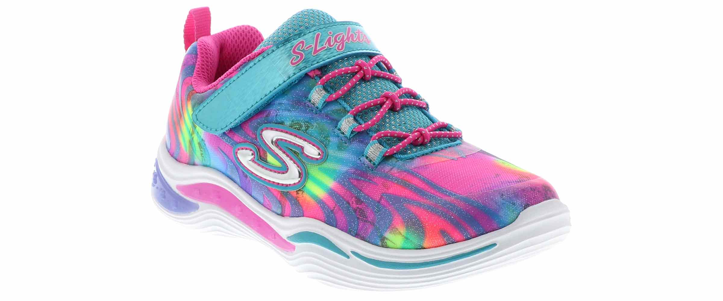 Skechers Girls/'   S Lights Power Petals Sneaker
