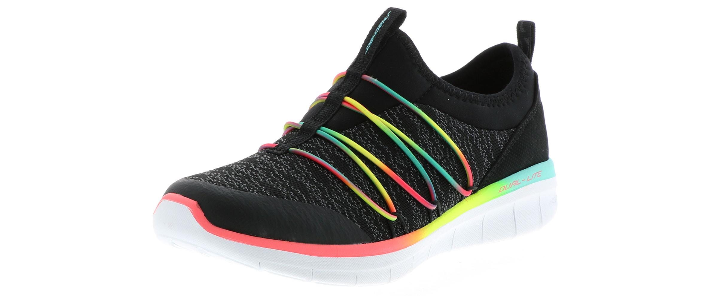 Details about Women's Skechers SYNERGY 2.0 SIMPLY CHIC 12379BKMT Black Multi Shoes