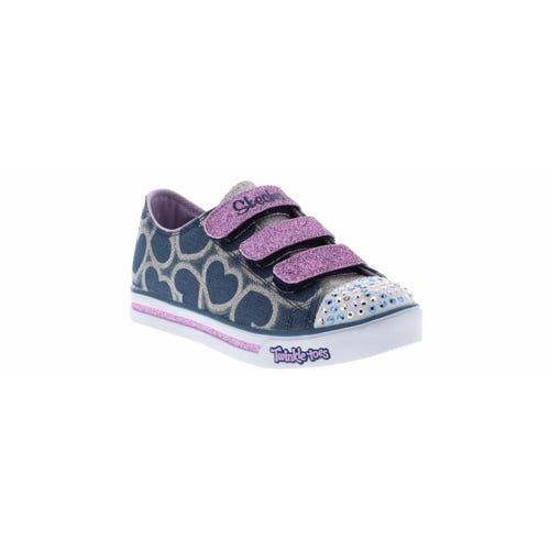 Skechers Kid's Twinkle Toes Glitter Heart (11-3) Blue