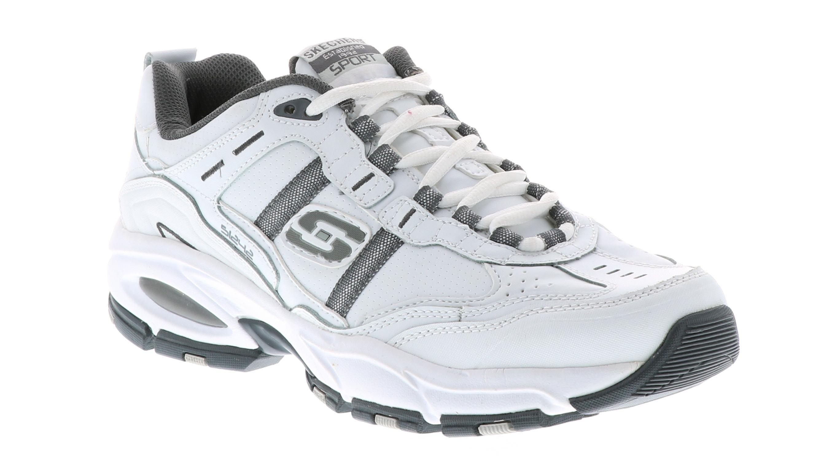 skechers mens white shoes