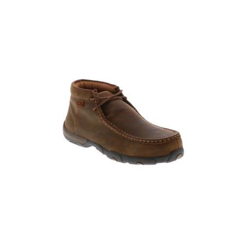 13fcc76de11 Women's Twisted X Driving Moccasin Steel Toe Brown   Shoe Sensation