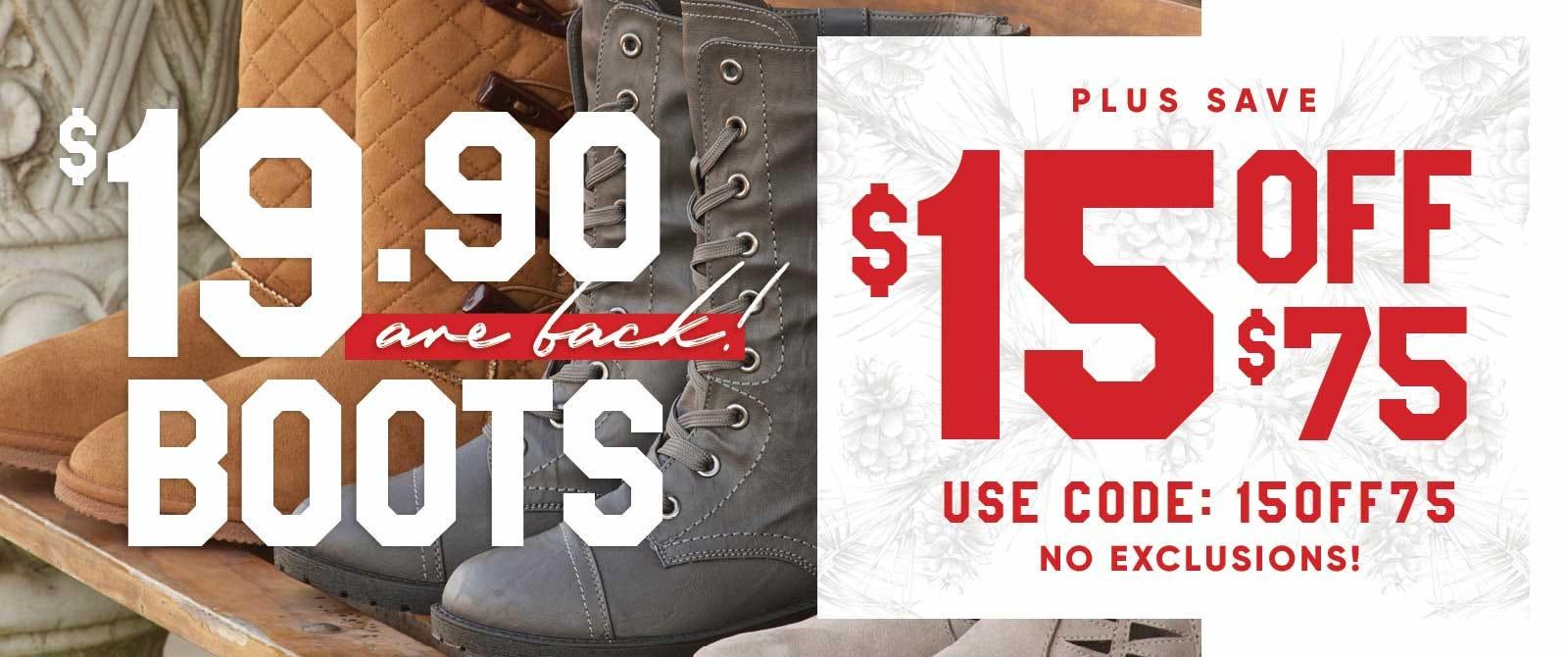 Women's boots under $20