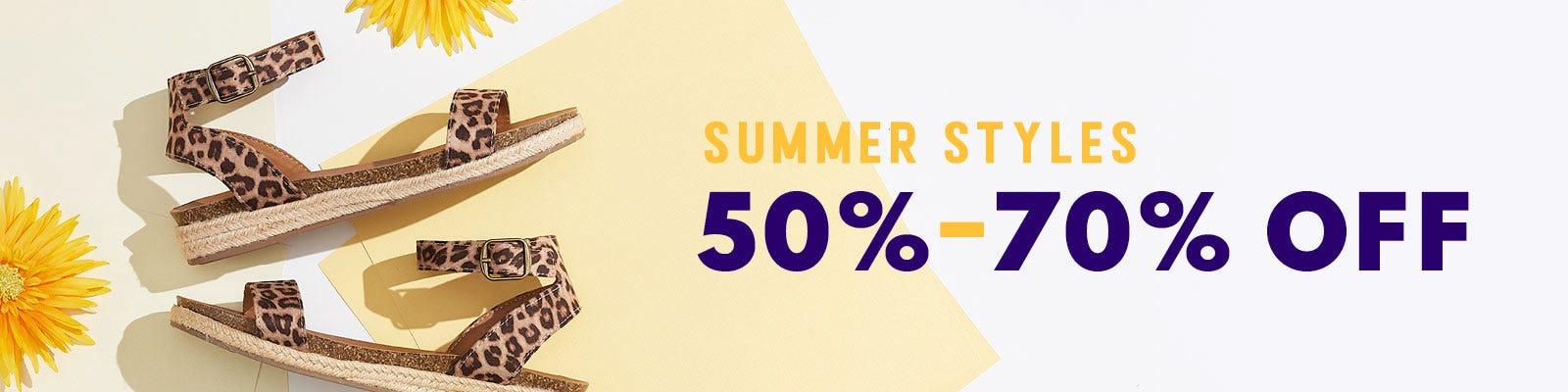 50%-70% OFF Summer Styles