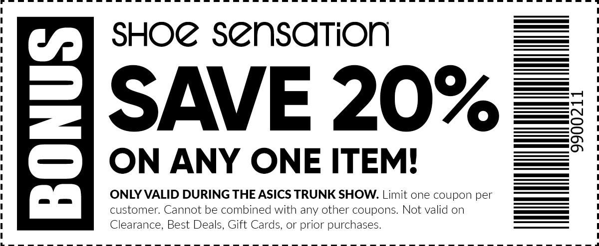 20% off your Asics item purchase during the Trunk Show