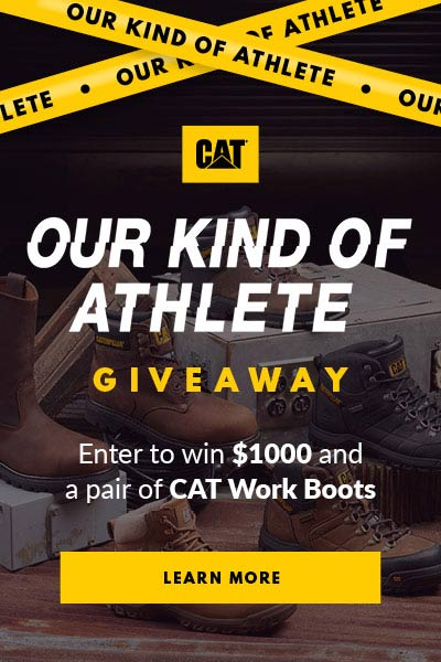 Win $1,000 and Free CAT Work Boots here!