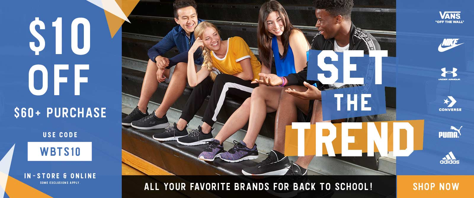 Shop your favorite shoe brands for back-to-school