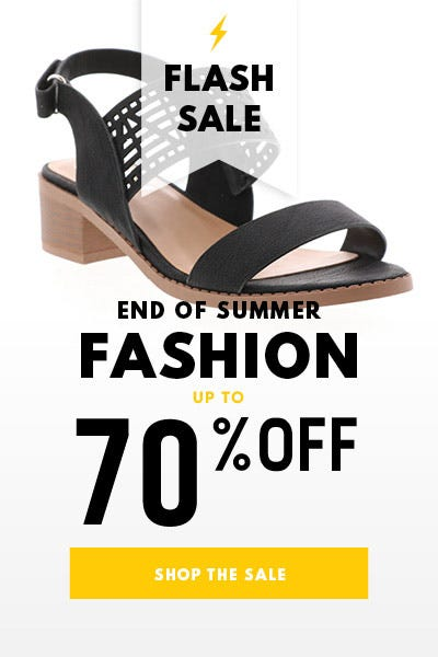 Save up to 70% on select Summer styles