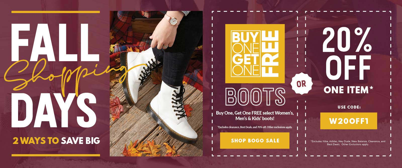 Buy One Get One Free Boots!