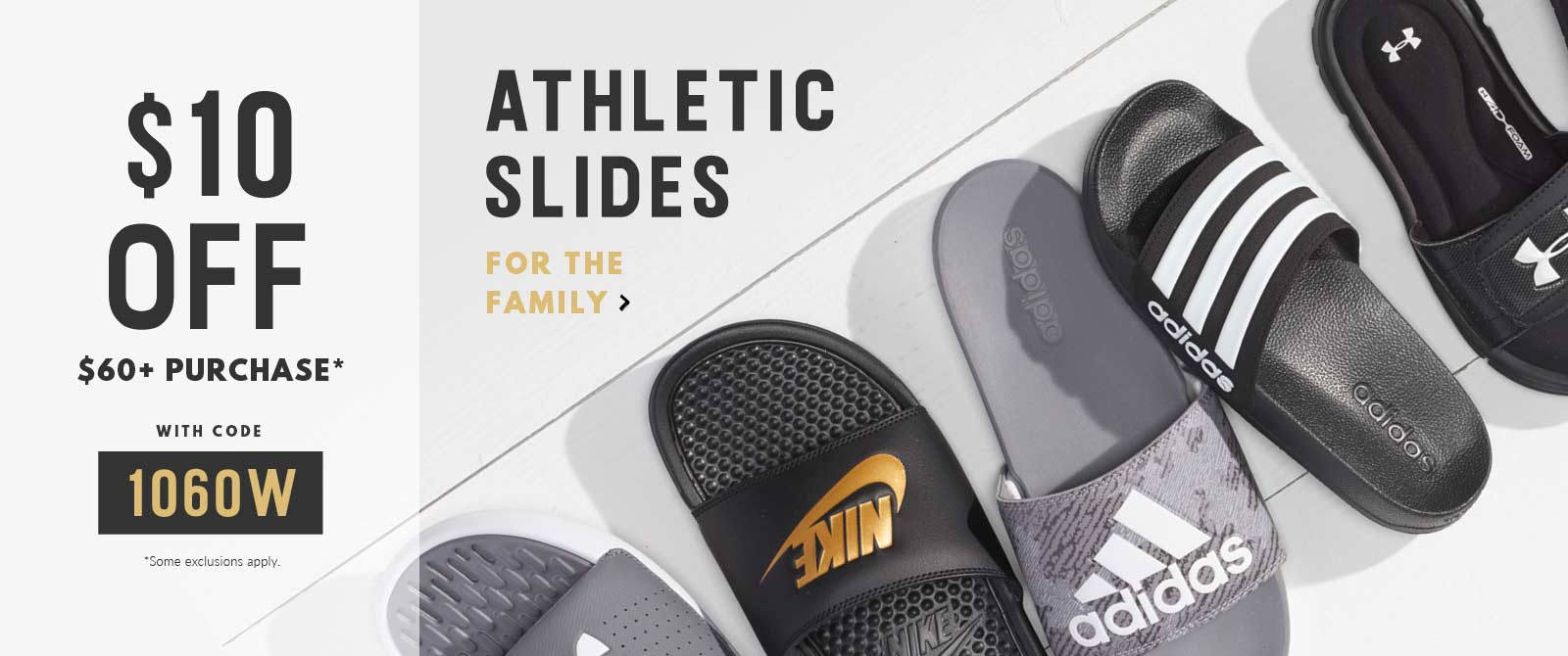 Shop athletic slides for the family